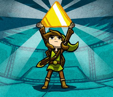 The Legend Of Zelda Link Triforce Obtained By