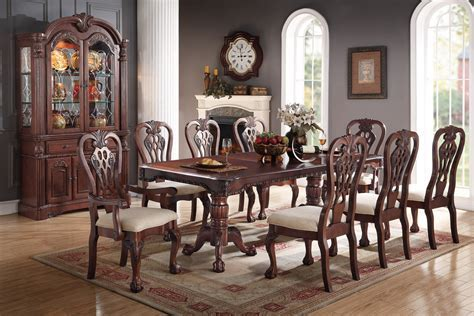 Antique Formal Dining Poundex #F2198   Hot Sectionals