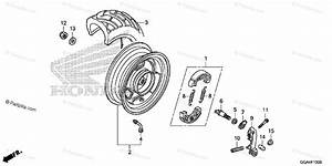 Honda Scooter 2014 Oem Parts Diagram For Rear Wheel