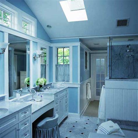 gambar kamar mandi sederhana warna cat biru