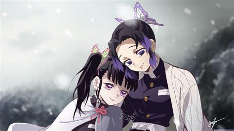 demon slayer kanao tsuyuri shinobu kochou  blur