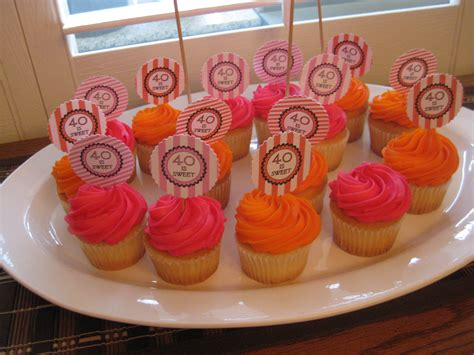 Fun 40th birthday party ideas and themes. Cupcakes | 40th birthday parties, Sweet, 40th birthday