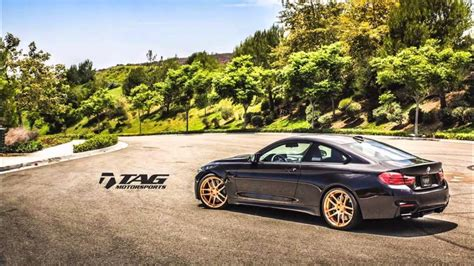 Bmw M4 Coupe On Matte Black Hre And Gold Morr Wheels