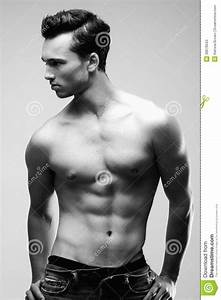 Male Model Posing Without Shirt Stock Image