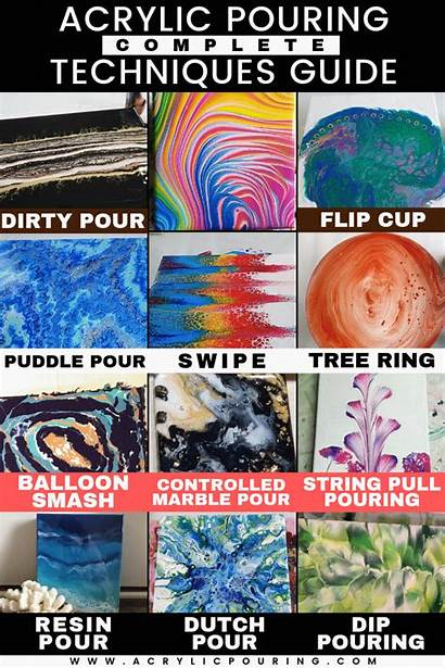 Acrylic Pouring Techniques Complete Guide Hone Skills