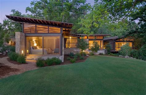 country homes interiors hill country ranch home offers a water 39 s edge