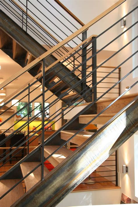 raw steel staircase house staircase