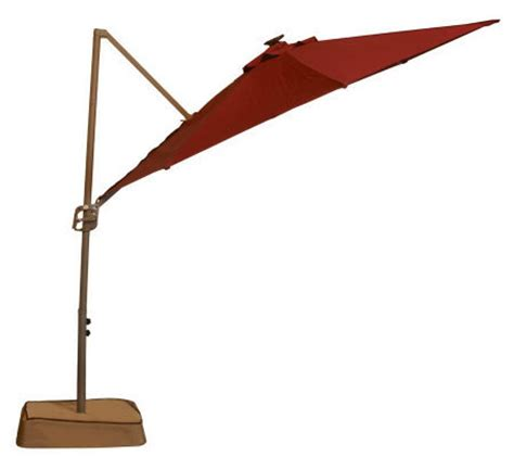 offset umbrella with solar lights southern patio 10 39 easy tilt solar offset umbrella with