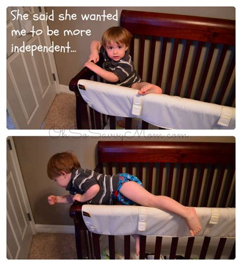 baby climbing out of crib toddler climbing out of crib oh so savvy