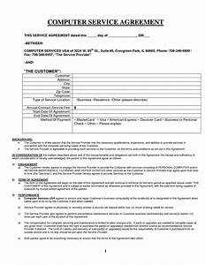 computer services template images computer repair With computer repair service agreement template