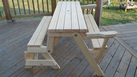 free folding picnic table bench plans pdf folding bench picnic table combo kreg owners 39 community