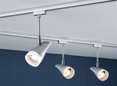 eclairage sur rail plafond eclairage tableau eclairage sur rail plafond led spot drive 5 4w paulmann