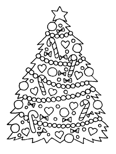 gorgeous christmas tree  christmas coloring page  print  coloring pages