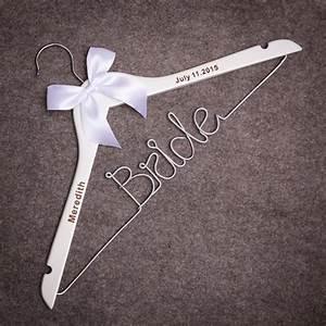 Bride dress hanger wedding hangerpersonalized wire for Custom wedding dress hanger