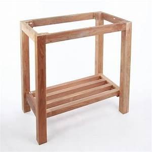 Teak Holz Waschtisch Untergestell Natur 75x48x74cm Bei