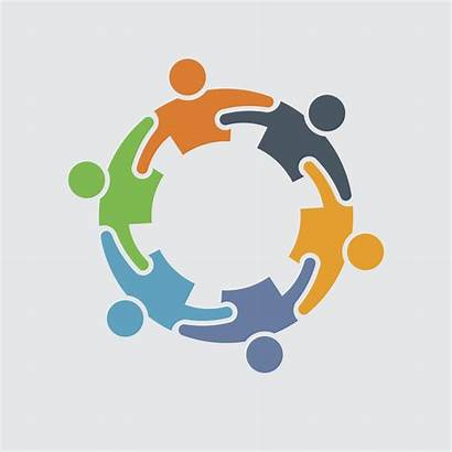 Clipart Support Icon Vector Circle Teamwork Community