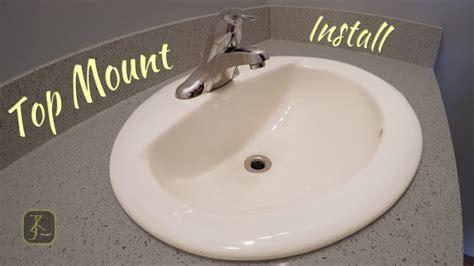 Installing Bathroom Sink by How To Install Bathroom Sink Top Mount In Quartz