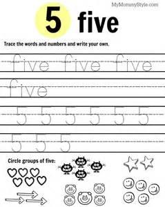 Printable Number Worksheets Free Printable Number Worksheets 1 9 My Style