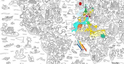 Carte Du Monde à Colorier Omy by Id 233 Es Cadeaux Pour Voyageurs Tour Du Monde A2pasdumonde