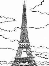 Paris Eiffel Coloring Tower Tour Pages France French Flag Easy Coloriages Drawing Coloriage Colouring Printable Bastille Sheets Colors Du Socyberty sketch template