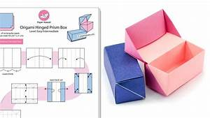 Origami Hinged Prism Gift Box Diagram
