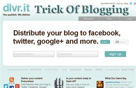 Publish Blogger Website Posts Facebook Twitter