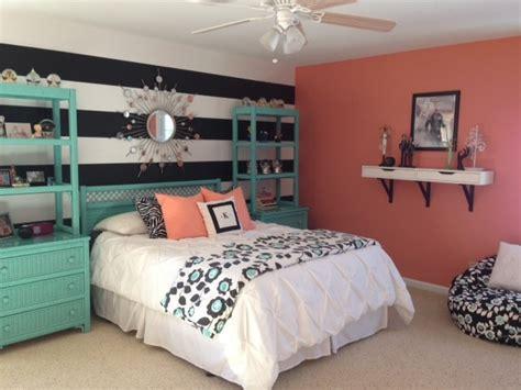 girls teal coral bedroom