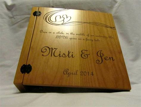 personalized wooden wedding album features   ring binder insert   hold  type
