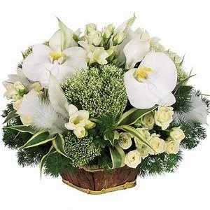 composition de table blanche et verte livraison sur nancy With chambre bébé design avec bouquets ronds fleurs