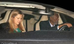 Morgan Freeman Dines Out Wearing Compression Glove On Hand
