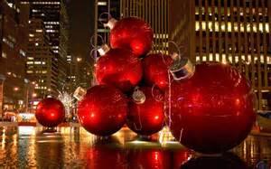 download wallpaper red christmas tree ornaments new york city 1280 x 800 widescreen desktop