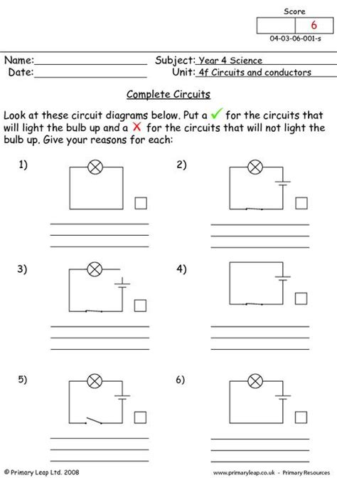 Complete circuits | PrimaryLeap.co.uk