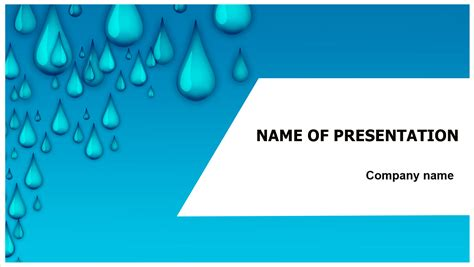 water drops powerpoint template big apple templates