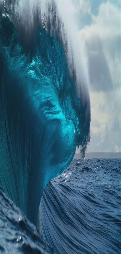ios iphone aqua blue water underwater wave
