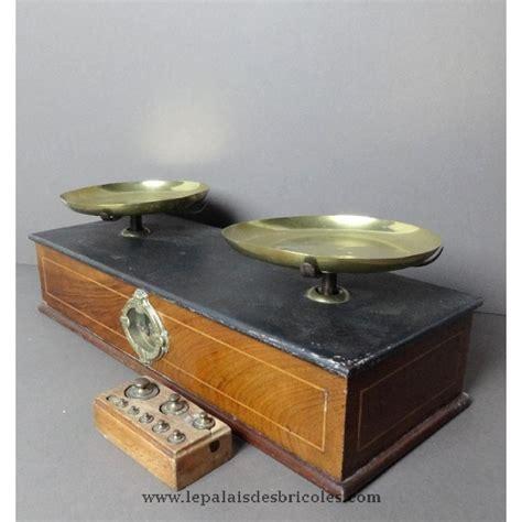 balance de cuisine ancienne ancienne balance pharmacie ou tabac plaquée acajou poids