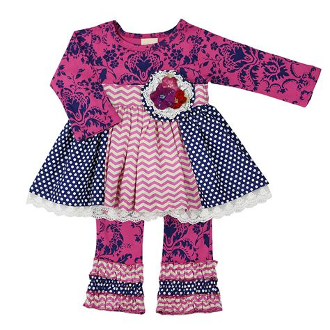 haute baby sugar plum toddler tunic set