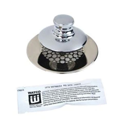 watco universal nufit push pull bathtub stopper grid strainer  silicone  pp cp
