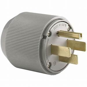 Eaton 50 Amp 125  250-volt 14-50 Industrial Power Plug - Gray-5745n