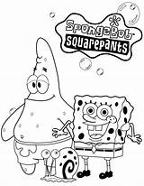 Coloring Spongebob Characters Patrick Cartoon sketch template