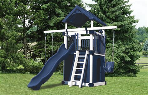swing sets for small spaces choosing a backyard playset for a small space swing kingdom 8419