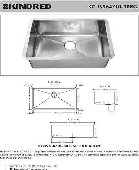 Single Kitchen Sink Dimensions