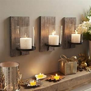 Wohnzimmer Wand Holz : die besten 25 kerzenhalter wand ideen auf pinterest ~ Lizthompson.info Haus und Dekorationen