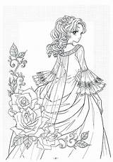 Coloring Pages Adult Books Poetry Victorian Printable Princess Colouring Anime Woman Disney Kolorowanki Tangled Imgfave Sheets Photobucket Drawings Adults Dresses sketch template