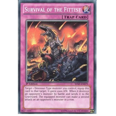 yu gi oh trading card game shsp en079 fittest survival 1st edition singles