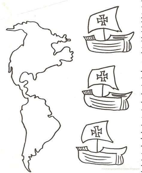 Las Tres Carabelas De Cristobal Colon Para Colorear by Dibujos Para Colorear De Cristobal Col 243 N