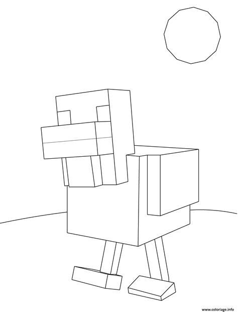 coloriage minecraft poule jecoloriecom