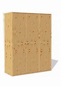 Kleiderschrank Ohne Türen : kleiderschrank mit 3 t ren massivholz ohne schadstoffe direkt vom deutschen hersteller ~ Frokenaadalensverden.com Haus und Dekorationen