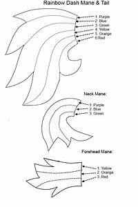 rainbow dash mane tail pattern by special measures on With rainbow dash cake template