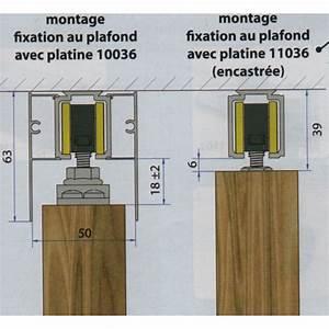 rail haut pour porte coulissante saf 40 et saf 80 mantion With porte coulissante fixation plafond