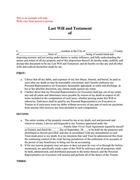 last will and testament free template last will and testament pdf filecloudjo